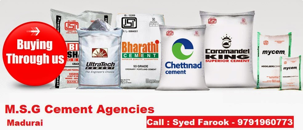 Cement Dealers and Distributors in Madurai - M.S.G Cement Agencies