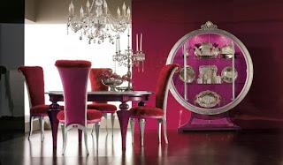 Sala jantar movéis contemporâeos de luxo