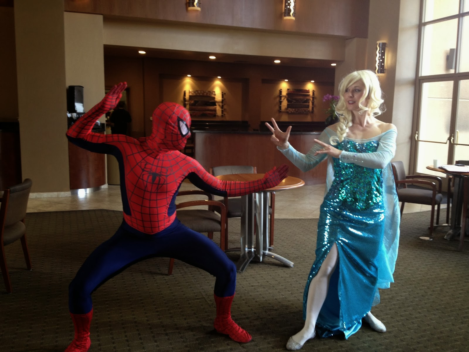 Spiderman and Frozen