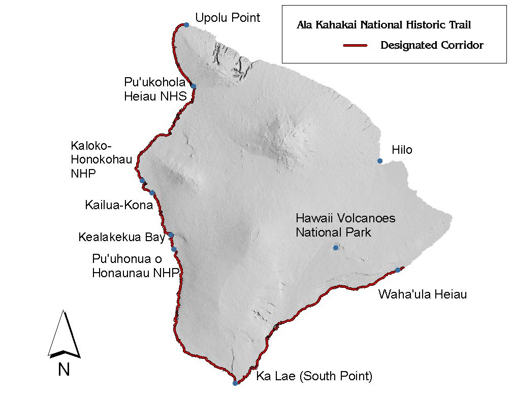 ala kahakai national historic trail will receive 275 000 to improve infrastructure and access map from nps gov alka
