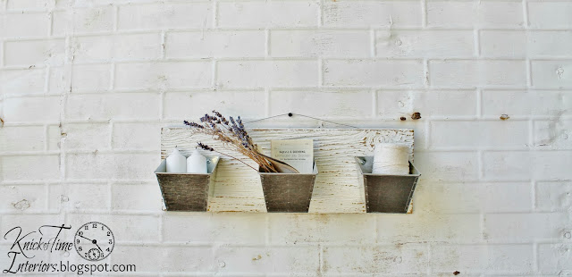 Galvanized Wall Bins Repurposed Upcycled Salvaged Wood via knickoftime knickoftimeinteriors.blogspot.com