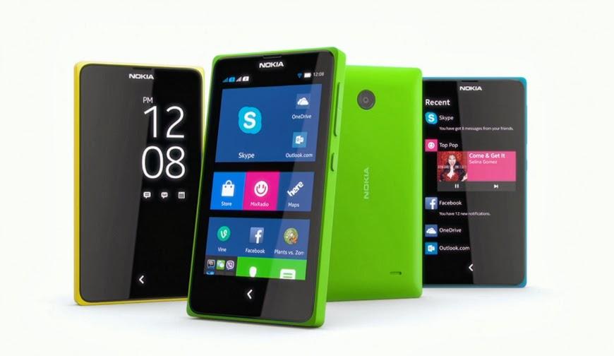 Foto Nokia X Nokia X+ Nokia Android XL Indonesia 2014