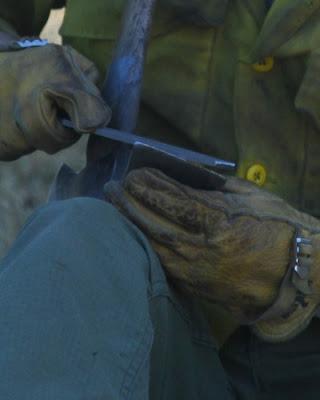 Sharpening pulaski