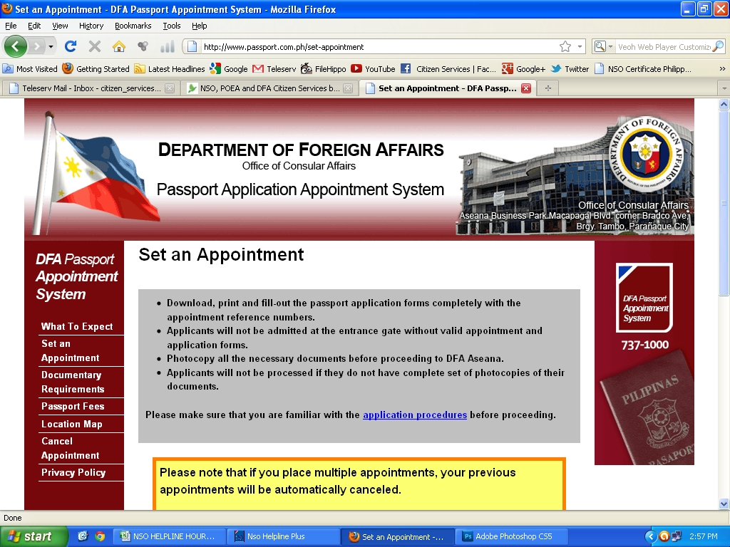 Get your birth certificate philippine passport appointment get your birth certificate philippine passport appointment system with teleserv aiddatafo Image collections