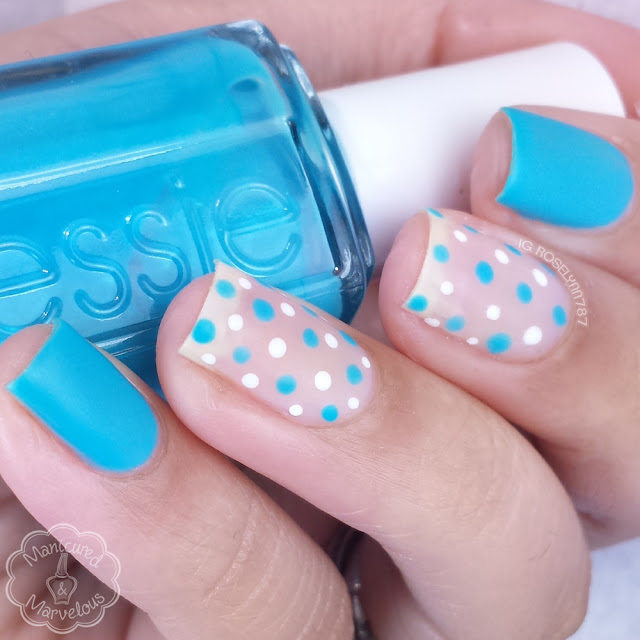 40 Great Nail Art Ideas - Teal Negative Space