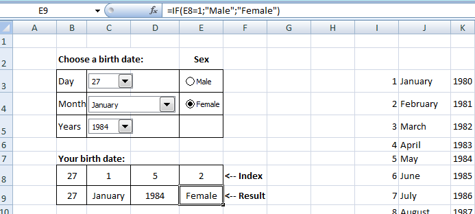 radio button - excel forms