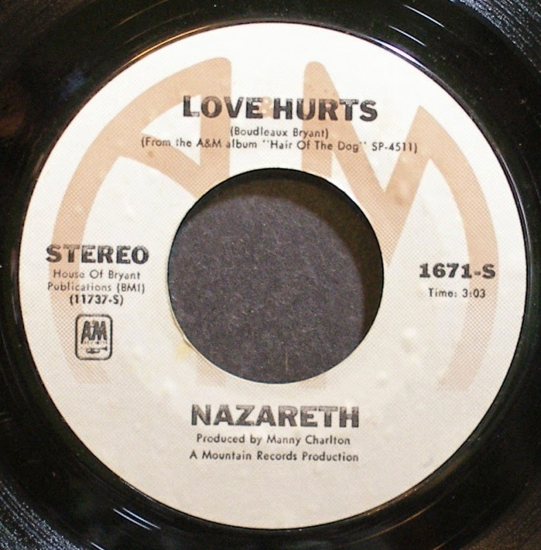 """Love Hurts"" Nazareth 45"""