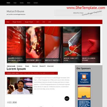 Matus Tribune blogger template. slideshow template blog. pagination for blogger template. magazine style blog template. template blog form wordpress theme