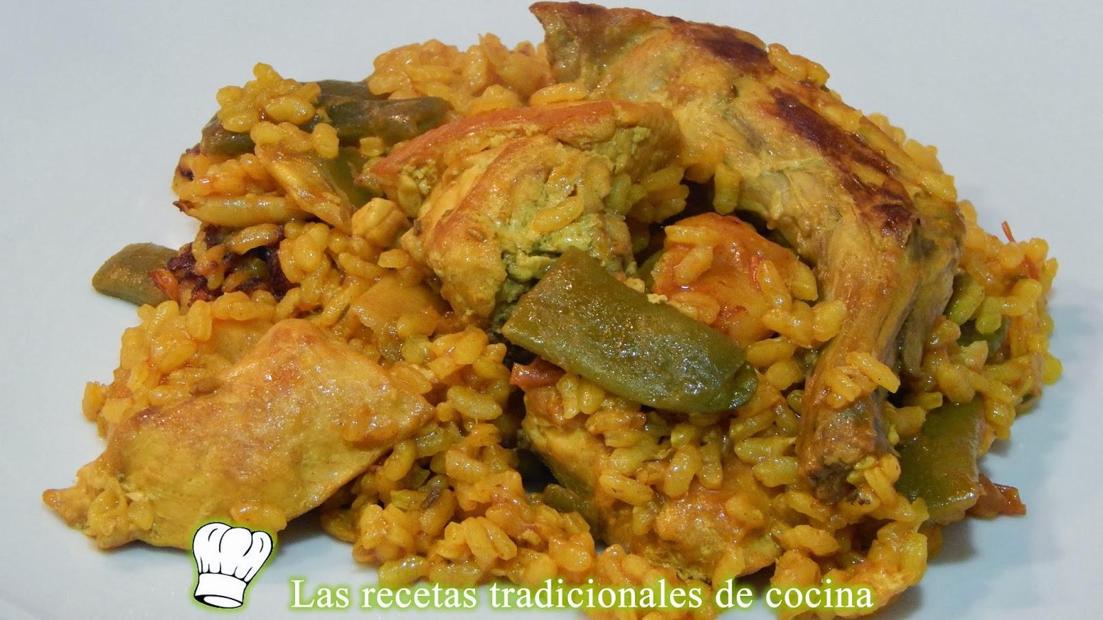 arroz de paella en cazuela