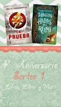 Sorteo 4º Aniversario en Letras, Libros y Más