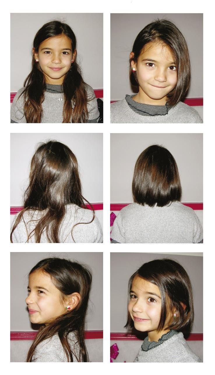 Camille, avant et après sa visite au Studio 54,  coupe enfant réalisée par Eddy, coiffeur visagiste à Montpellier.