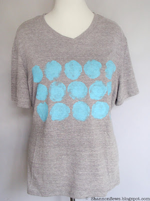 decorated t-shirt with painted polka dots