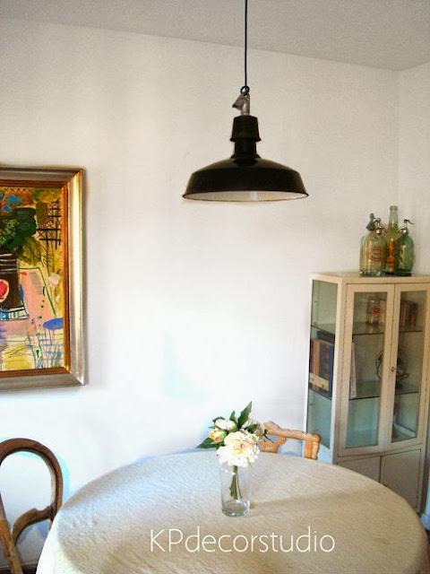 Salones y comedores vintage estilo industrial. Lámparas antiguas de techo online