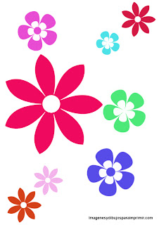 flores para imprimir y recortar