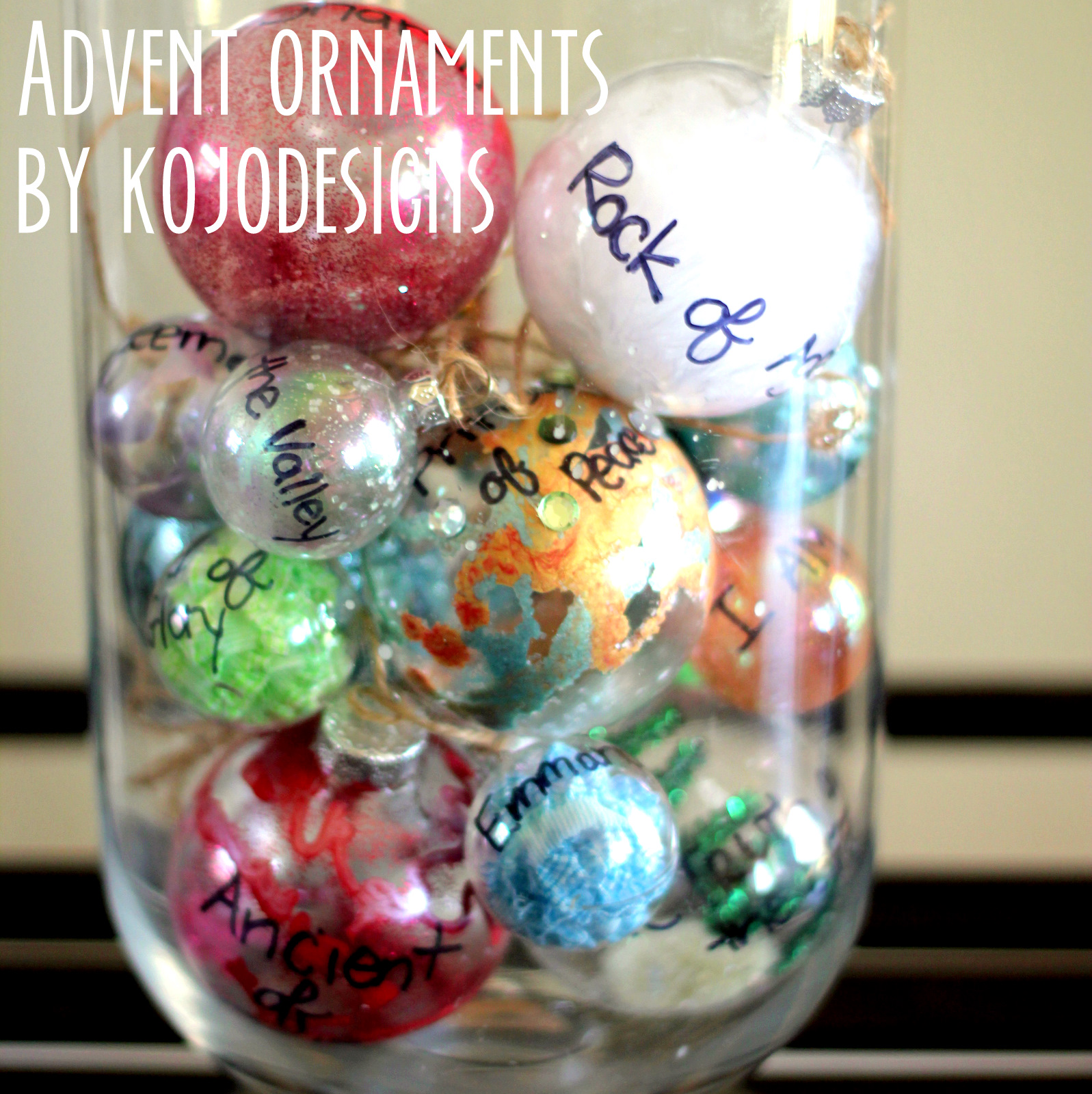 Ornaments with names on them - November 21 2011