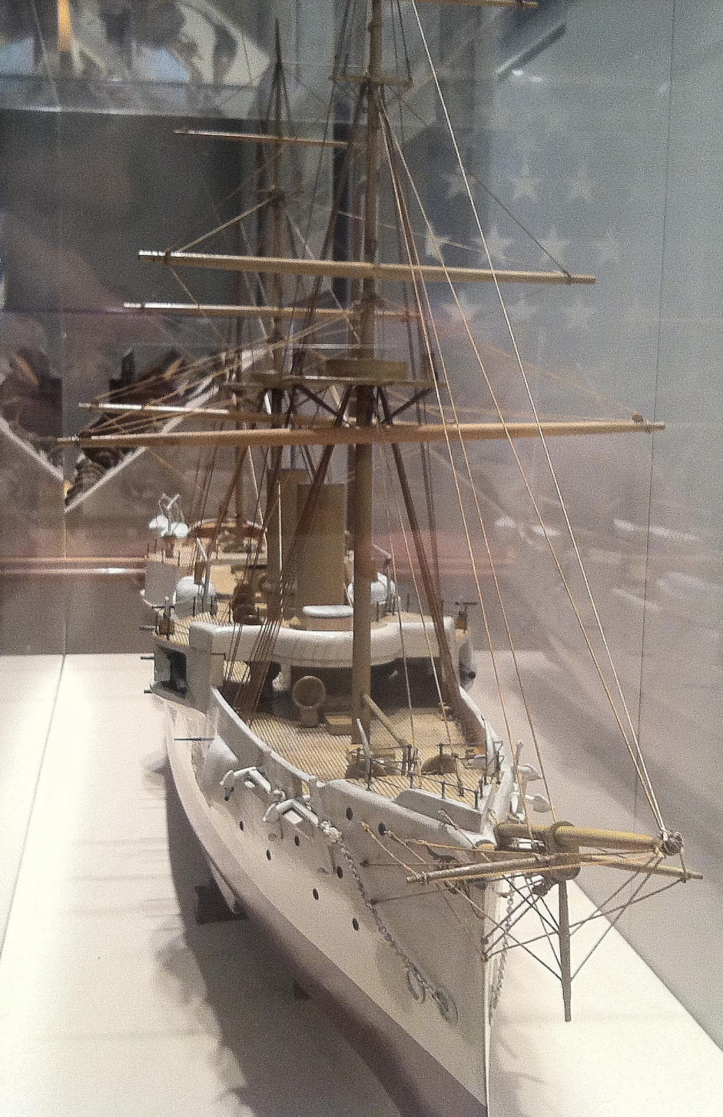 Hampton Roads Naval Museum Ship Model Boucher Company Model - Ship museums in us