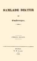 Julia Nyberg, Samlade dikter 1-3, Örebro 1831