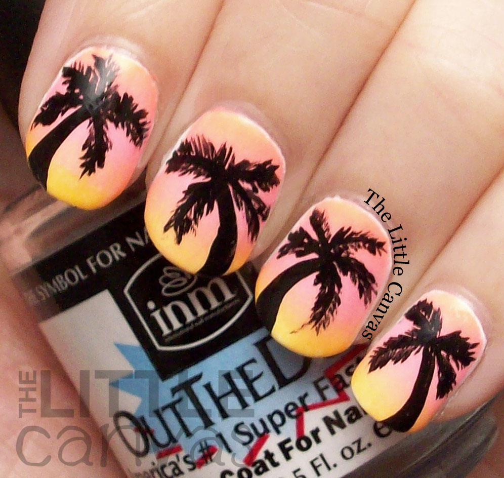 Famous Swirl Nail Polish Big Nail Art Games For Kids Square How To Do Nail Art Designs Step By Step Nail Art Tv Show Old Best Nail Polish Blogs GreenNail Art Stickers Online The Little Canvas: Tropical Palm Tree Nail Art