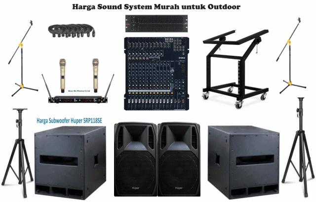 Harga Satu Set Sound System Murah Outdoor Lapangan