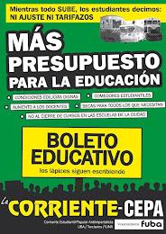 MÁS PRESUPUESTO PARA LA EDUCACIÓN