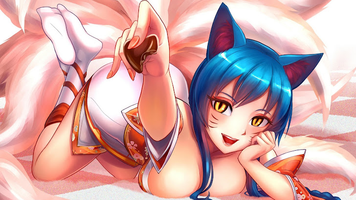 fox girl ahri League of Legends