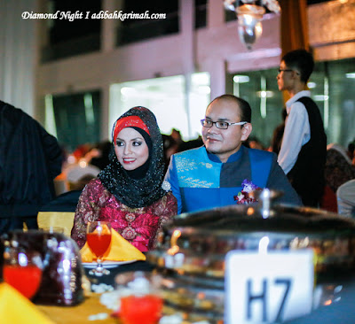 HASBI AND ADIBAH HAVING DINNER AT DIAMOND NIGHT