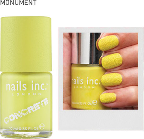 Unhas de concreto - Concrete Effect - Nails Inc - nail art - cor amarelo Monument