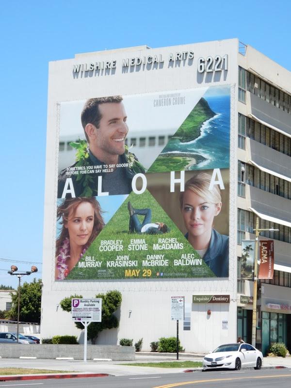 Giant Aloha movie billboard