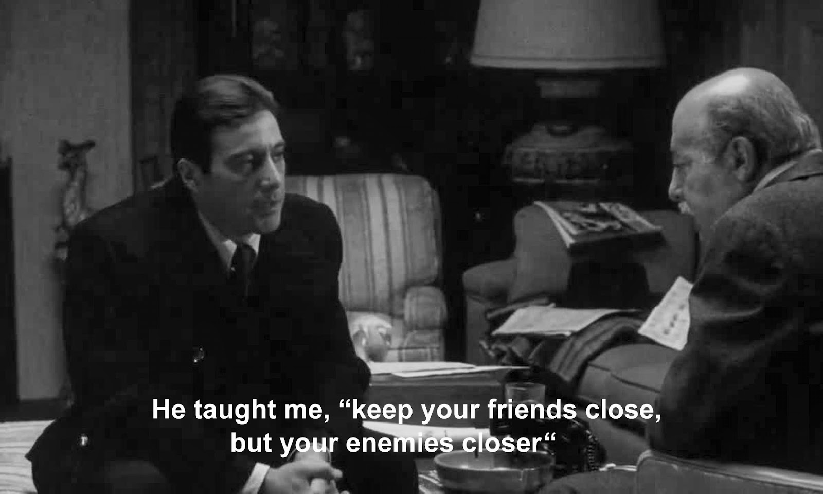 Friendship Quotes Godfather : The godfather quotes keep your friends close