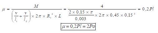 Solucion Viscosidad dinamica del aceite entre cilindros ejercicio 3