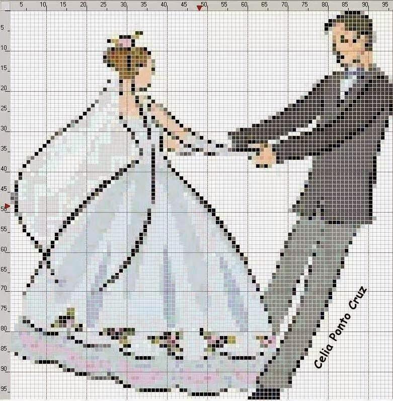 Molto Hobby lavori femminili - ricamo - uncinetto - maglia: Schemi Nozze  EN06