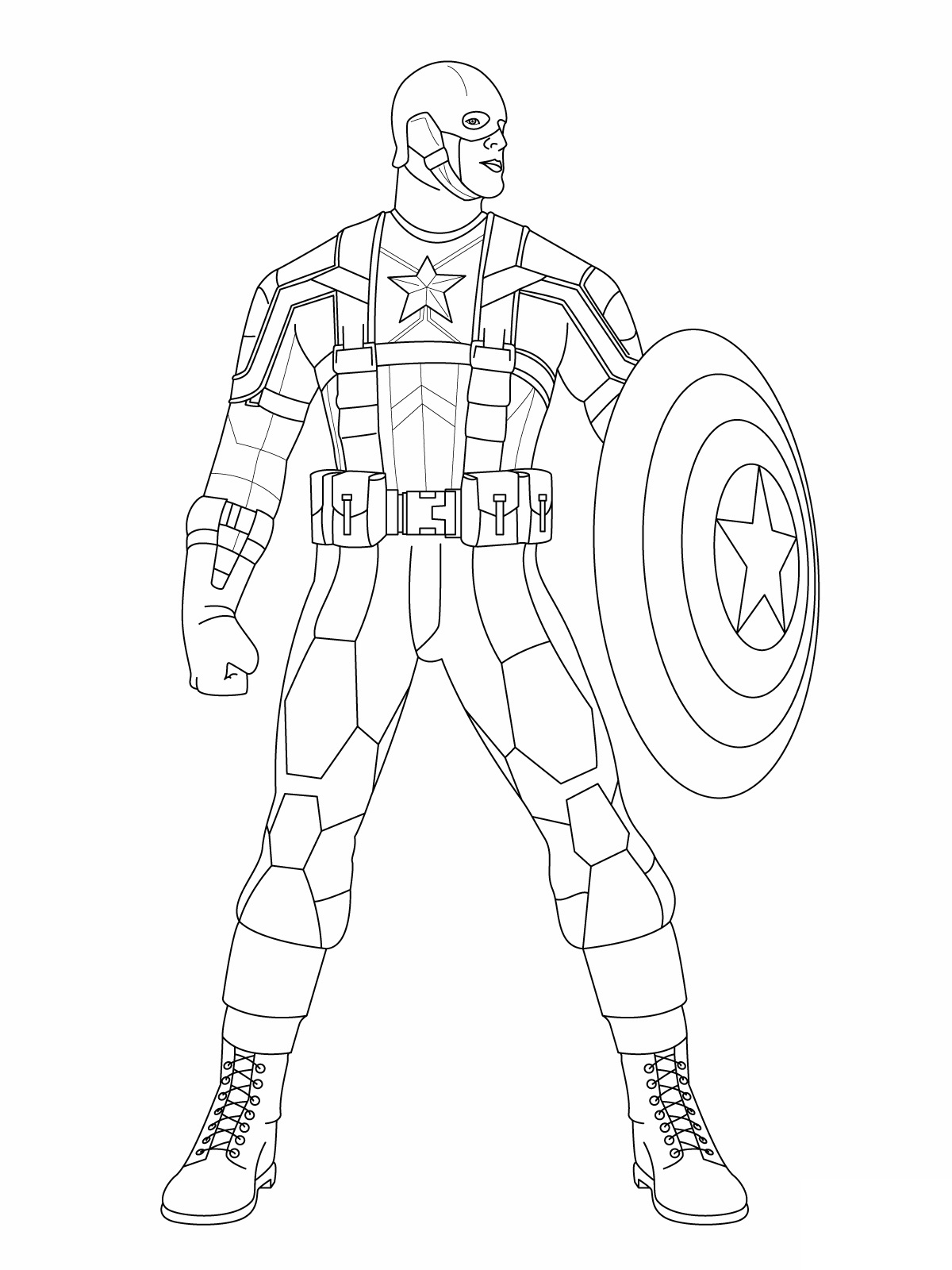 Printable Captain America Coloring Pages- Download and Print Now ...
