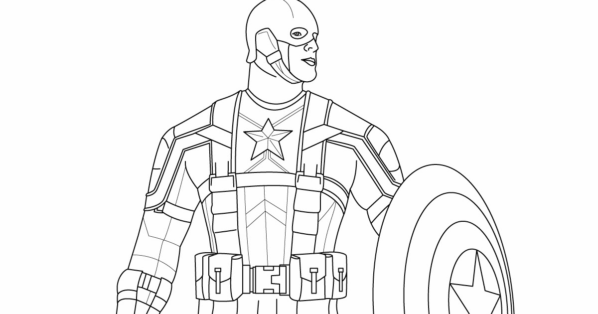 captain america coloring pages superhero coloring pages