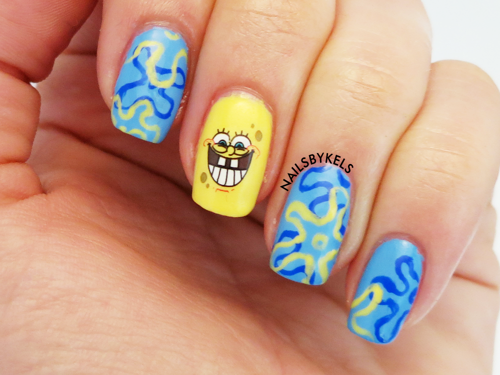 Nails By Kels Review Spongebob Nail Art Water Decals