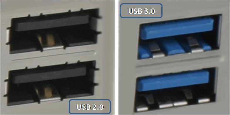 diferencia entre puertos usb 2.0 y 3.0