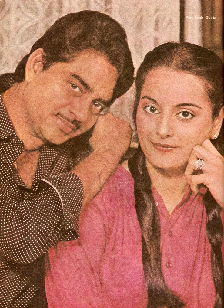 Shatrugan Sinha and wife Poonam old Pic1 - Shatrugan Sinha and wife Poonam old Pic