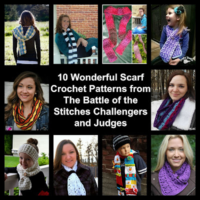 10 Wonderful Scarf Crochet Patterns from The Battle of the Stitches