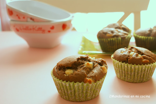 Muffins de triple chocolate