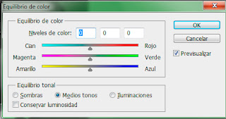 Photoshop: ajuste equilibrio de color