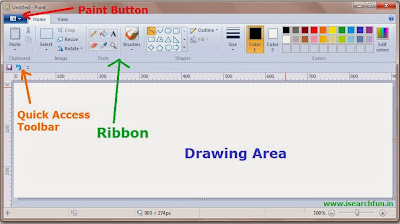 Learn MS Paint different parts Image