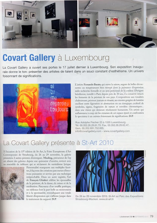 Covart Gallery, Luxembourg.