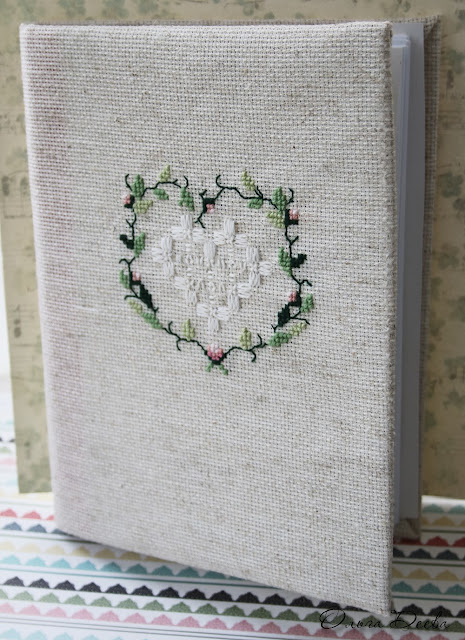 блокнот ручной работы, handmade notebook, cross-stitching, вышивка