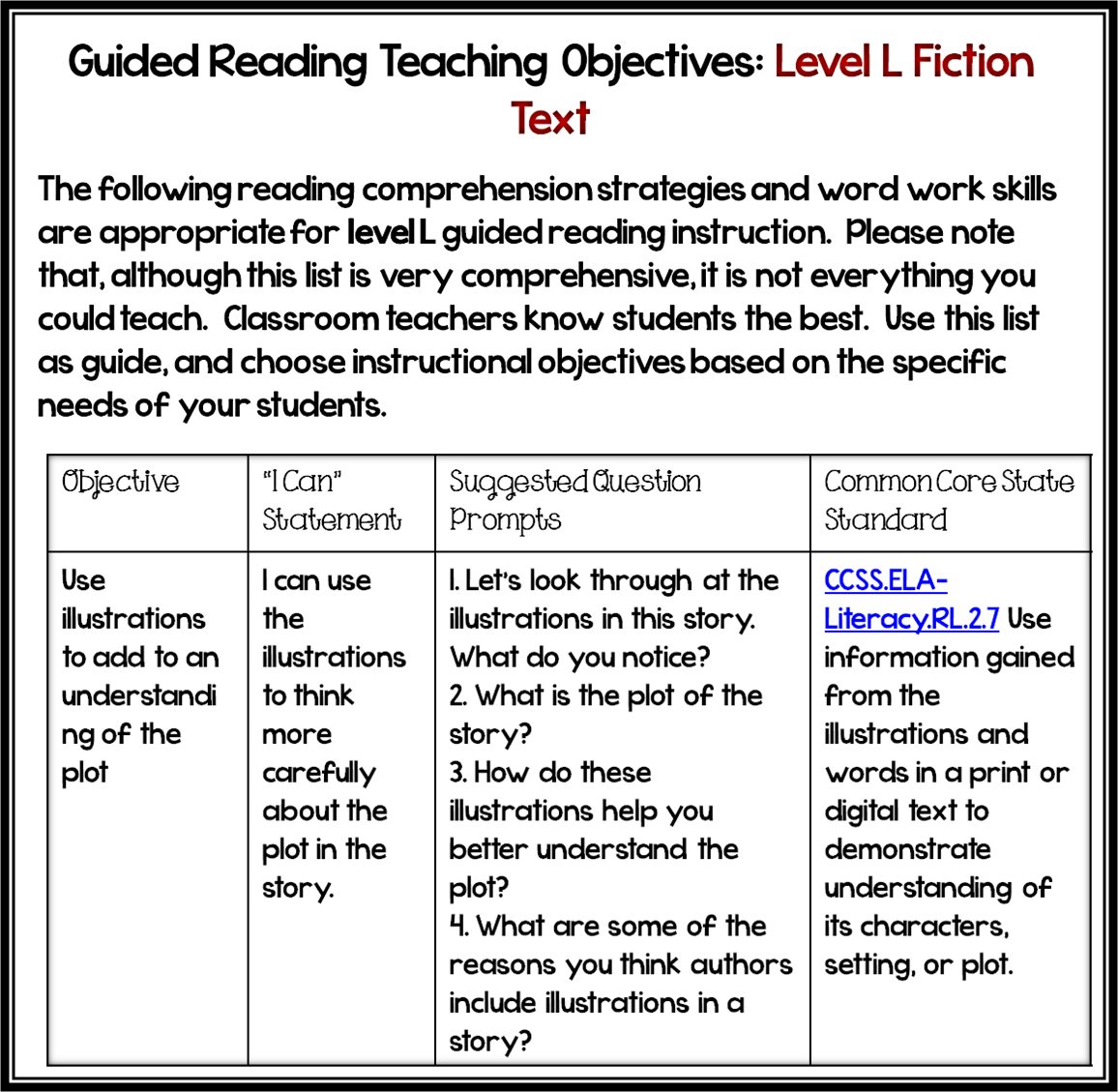 search results for �guided reading learning objectives