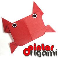 Cara Membuat Origami Kepiting