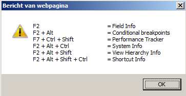 Shortcuts available in SAP CRM WebUI