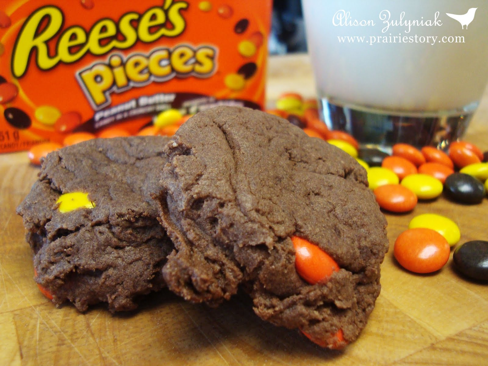Prairie Story: Chocolate Peanut Butter Reese's Pieces Cookies