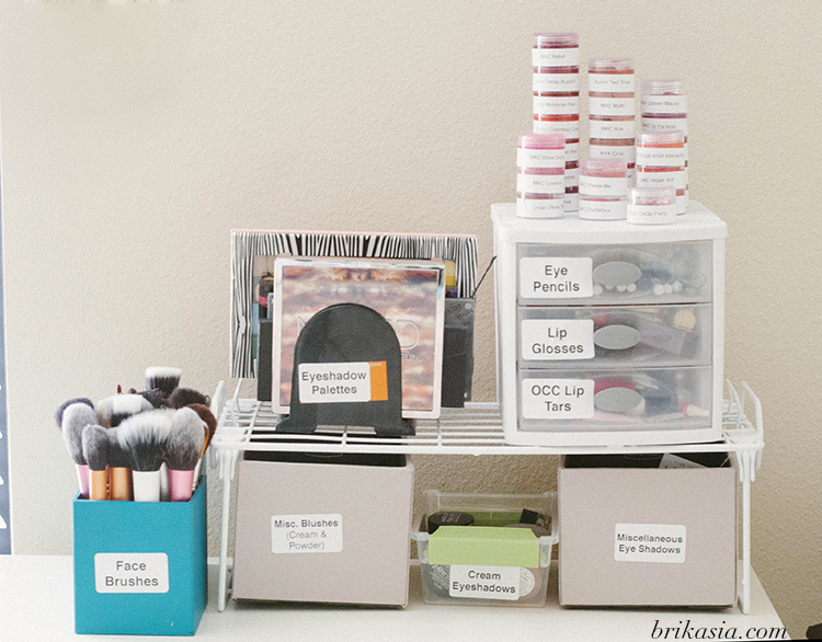 makeup storage tips, how to reorganize makeup, dymo labelwriter 450 review, small business organization
