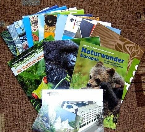 de plusieurs Brochures et flyers Gratuits offert par le fédéral de l'Environnement et le Ministère du bâtiment