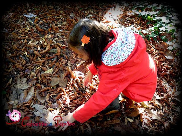 barrette enfant, barrette anti glisse orange automne