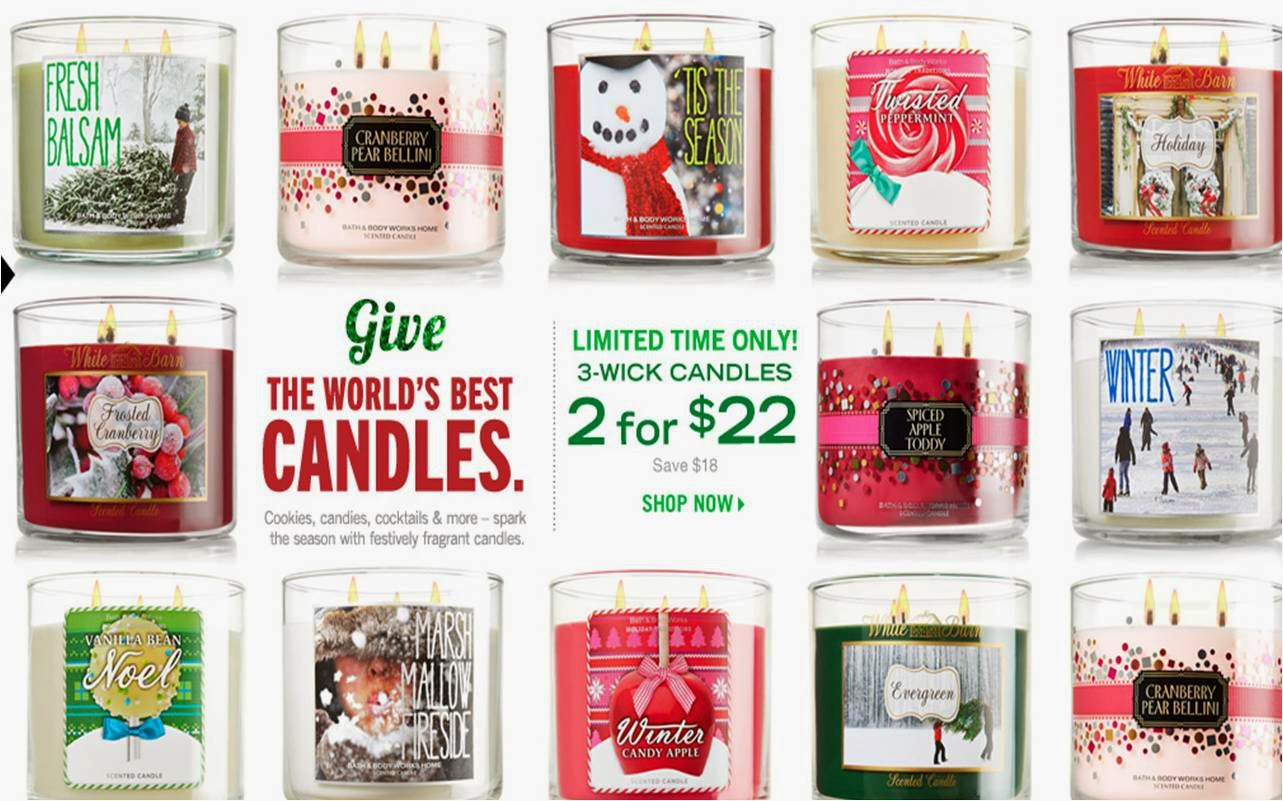 Bath and body works holiday scents - I Also Did Some Shopping At Bath And Body Works Two Weekends Ago Since They Had The Candle Deal Again Plus Winter Scented Candles Have Arrived Hallelujah